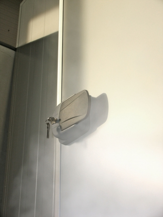 Hűtőkamra ajtó tesztüzemben