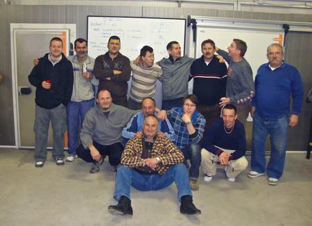 A Hűtőépítő csapata