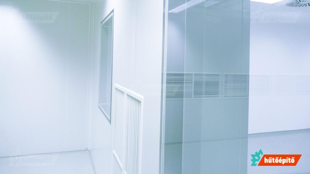 Hűtőépítő Tisztaterek tisztatéri üvegezés Pharmaclean