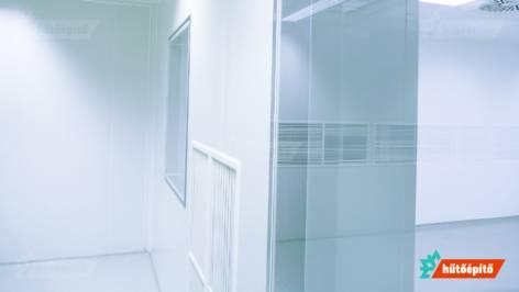 Hűtőépítő Tisztaterek tisztatéri üvegezés KleanLabs