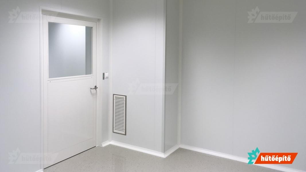 Hűtőépítő Pharmaclean tisztatéri ajtók ISO14644 tisztaszoba ajtó