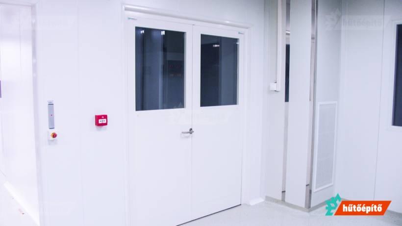 Hűtőépítő Pharmaclean tisztatéri ajtók Kétszárnyú tisztatéri ajtó