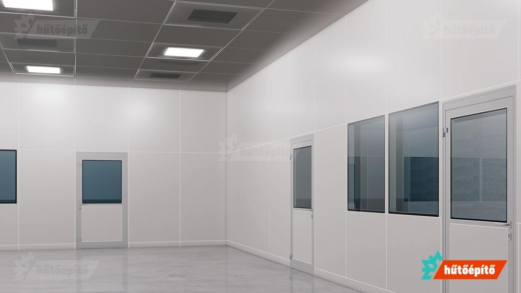 Hűtőépítő KleanLabs tisztatéri ajtók