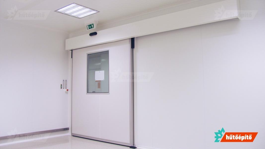 Hűtőépítő Pharmaclean tisztatéri ajtók tisztatéri tolóajtó