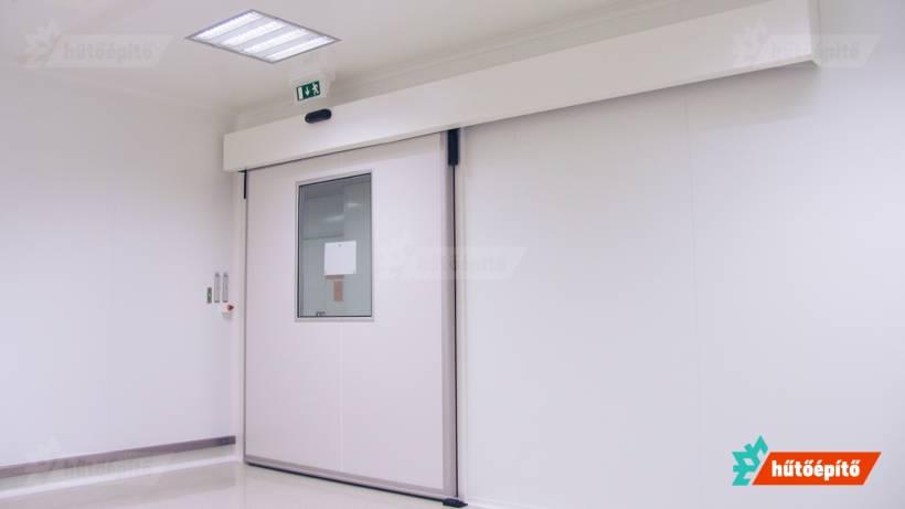 Hűtőépítő KleanLabs tisztatéri ajtók tisztatéri tolóajtó