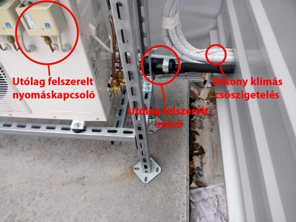 Split aggregát utólagosan felszerelt nyomáskapcsolóval