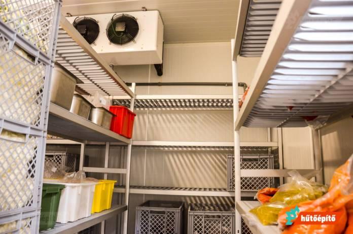 Hűtőkamra belső elrendezés
