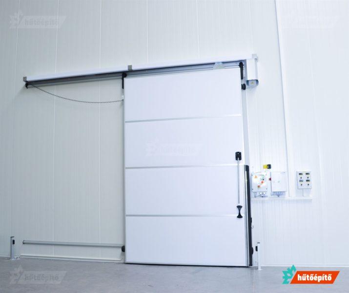 Automatikus működtetésű hűtőtéri tolóajtó
